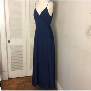 Fame and Partners Blue Maxi Wrap Dress